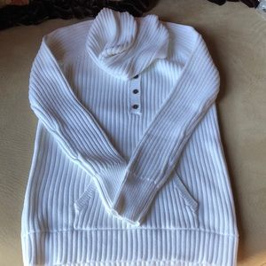 J. Crew white hoodie sweater-  100% cotton